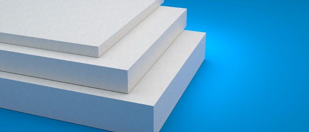 styrofoam-sheats-on-blue-backkground-3d-illustration-picture-id1219800921